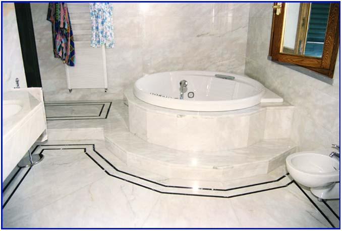 BARBIERI MARMI lavorazione marmi, pietre e graniti - PRODOTTI - pavimento e rivestimento bagno
